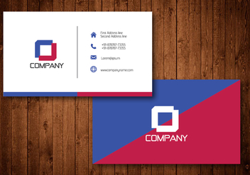 Diagonal Creative Business Card Template Vector - Free vector #354163