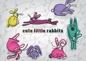 Free Cute Little Rabbits Vector Background - Kostenloses vector #354173
