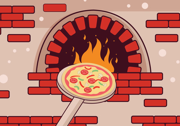 Pizza Oven Vector - бесплатный vector #354243
