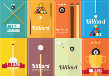 Billiard Poster Vectors - Kostenloses vector #354263