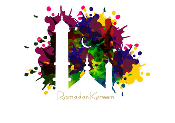 Mosque On Ramadan Kareem Card - vector gratuit #354363