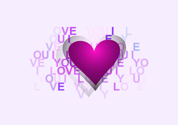 Happy Valentine Day Card - vector gratuit #354393