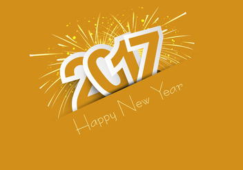 Celebration Of Happy New Year 2017 - vector gratuit #354453
