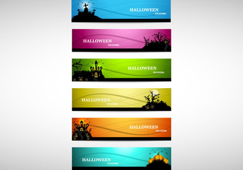 Headers Of Halloween Party - vector gratuit #354493