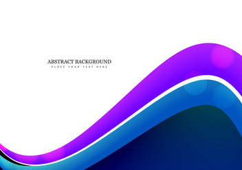 Business Card With Colorful Wave - Kostenloses vector #354523