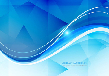 Wave On Polygon Background - vector #354973 gratis