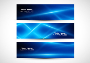 Abstract Blue Colored Header - Free vector #355003