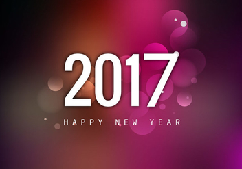 Happy New Year 2017 With Colorful Background - vector gratuit #355063