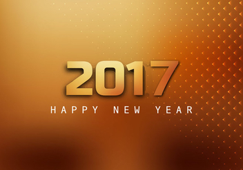 Happy New Year 2017 Greeting Card - Free vector #355123