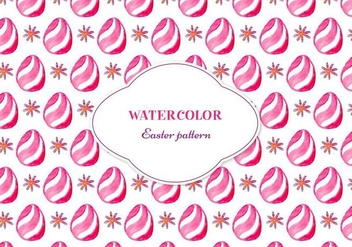 Free Vector Floral Pattern With Easter Egg - Free vector #355353