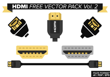 Hdmi Free Vector Pack Vol. 2 - vector #355433 gratis