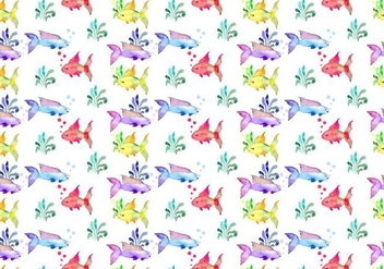 Free Summer Watercolor Vector Pattern - Free vector #355483