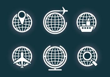 Globe Grid Vector - Free vector #355493