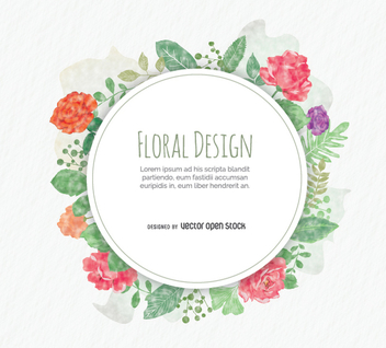 Rounded floral design - vector gratuit #355813