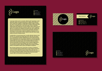 Letter Head Design Business Cards Corporate Identity Stationery - бесплатный vector #355853