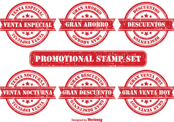Promotional Badge Set in Spanish - Free vector #355893