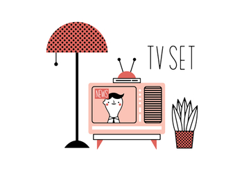 Free Tv Set Vector - vector #356123 gratis
