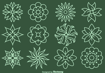 Flower Line Vector Icons - Free vector #356153