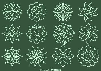 Flower Line Vector Icons - Kostenloses vector #356153