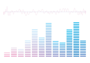 Vector Sound Bars Graphic - Free vector #356233