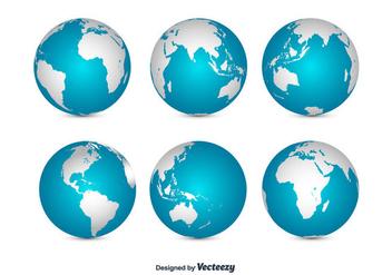 Globe Set Vector - Kostenloses vector #356313