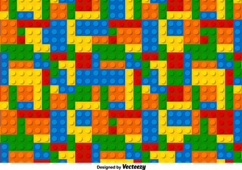 Multicolor Lego Vector Pattern - Free vector #356333