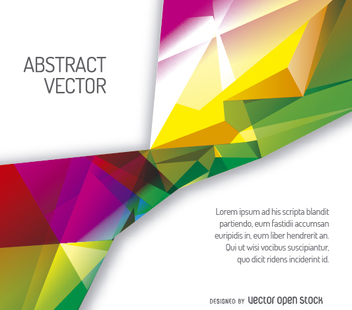 Colorful polygonal cover template - Free vector #356443