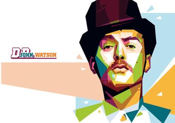 Dr. Watson Portrait Vector - Kostenloses vector #356553