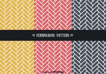 Stylish Herringbone Patterns Vector - Free vector #356583