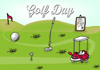 Free Golf Day Vector Illustration - vector gratuit #356773