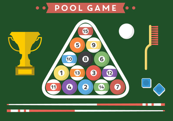 Billiard Flat Vectors - Free vector #356883