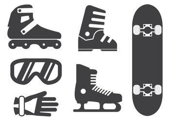 Sport Equipment Vectors - бесплатный vector #356893