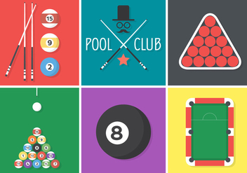 Flat Billiard Vectors - Free vector #356913