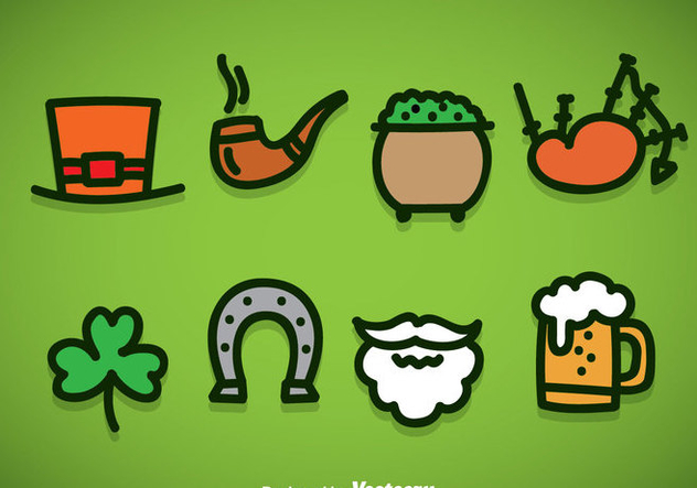 St Patricks Day Element Icons Vector - Free vector #356983
