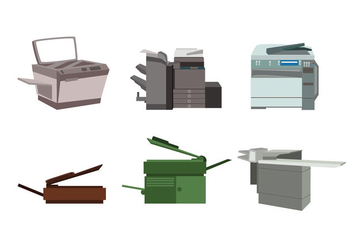 Isolated Photocopier Vector - vector gratuit #357013