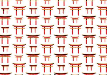 Japanese Torii Gate Seamless Pattern - vector #357113 gratis
