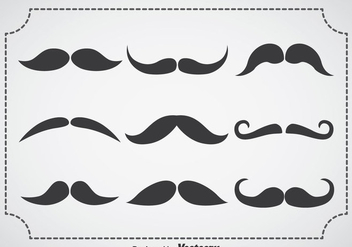 Movember Mustache Vector Sets - Kostenloses vector #357123