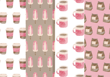 Free Cafe Vector Patterns - бесплатный vector #357323
