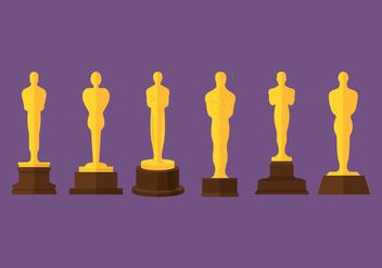 Oscar Statue Vectors - Free vector #357353