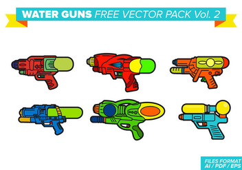 Water Guns Free Vector Pack Vol. 2 - Free vector #357573