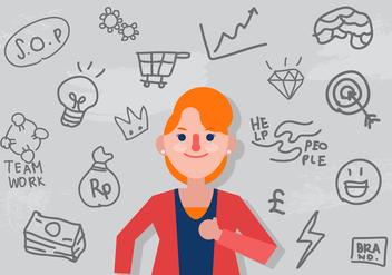Vector Entrepreneurship Woman - Free vector #357583