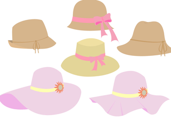 Beautiful Ladies Hat Vectors - Free vector #357593
