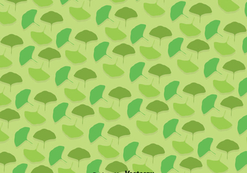 Ginko Green Leaves Pattern - vector gratuit #357643