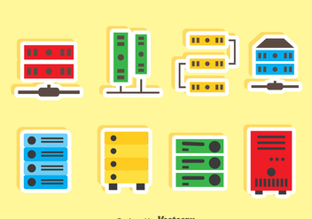 Server Rack Icons Vector - vector gratuit #357923