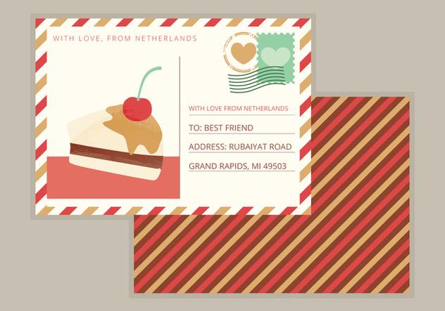 Vector Postcard - бесплатный vector #358103