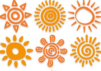Hand Drawn Sun Vectors - Kostenloses vector #358153