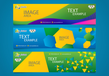 Brasil Olympics Banners Vectorial Editable - Kostenloses vector #358213