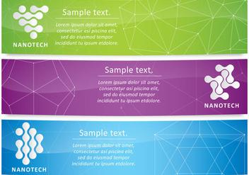 Nanotechnology Banners - Free vector #358223