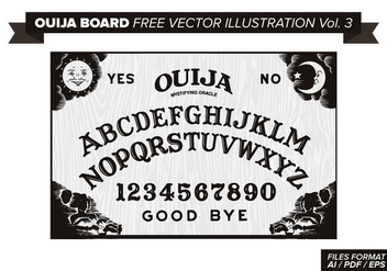 Ouija Board Free Vector Illustration Vol. 3 - Kostenloses vector #358233