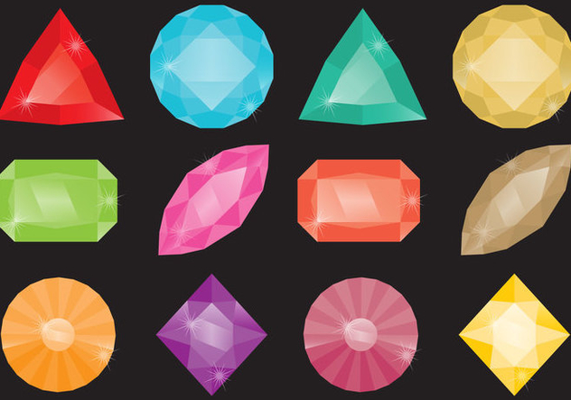 Colorful Strass Stones - Free vector #358283